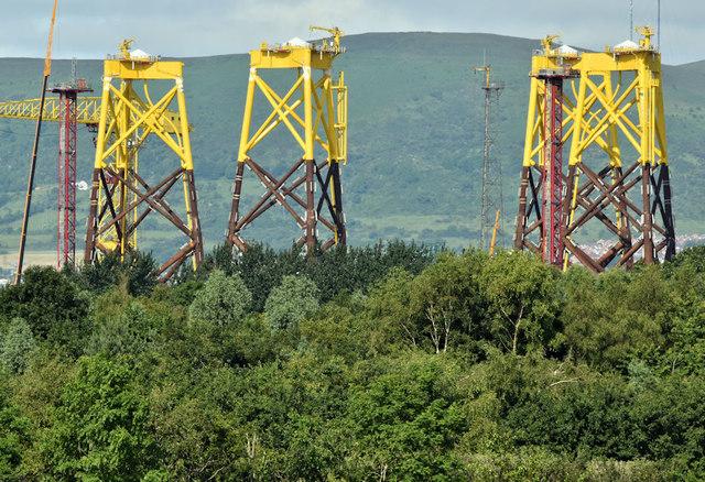 Wind turbine parts, Harland & Wolff, Belfast (July 2019)