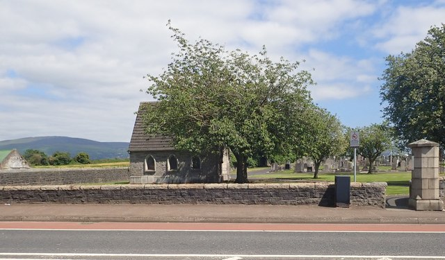 The smaller of the two mortuary chapels at Dowdallshill Cemetery, Dundalk