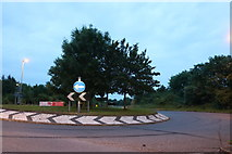 TL3059 : Roundabout on Ermine Street, Caxton by David Howard