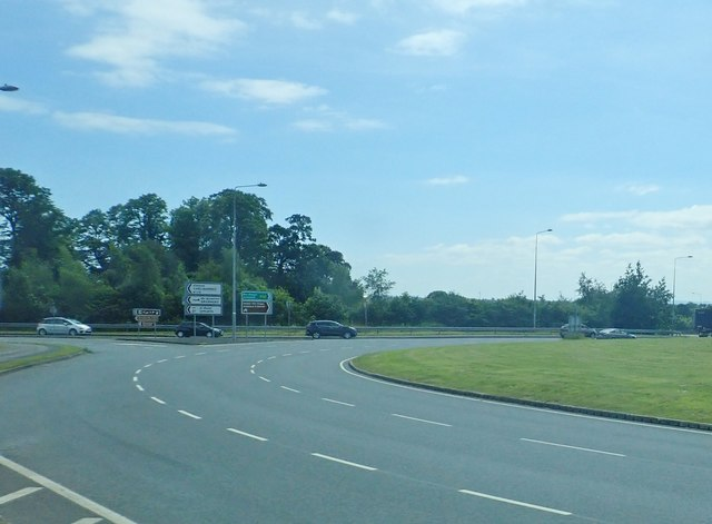 The R173 at Ballymascanlan Roundabout