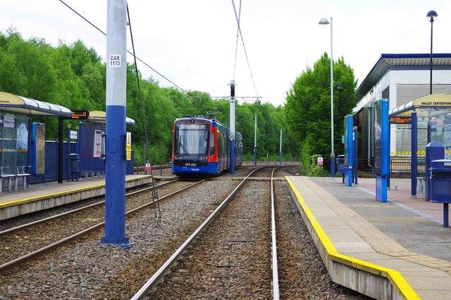 Sheffield Supertram Valley Centertainment tram stop, Sheffield
