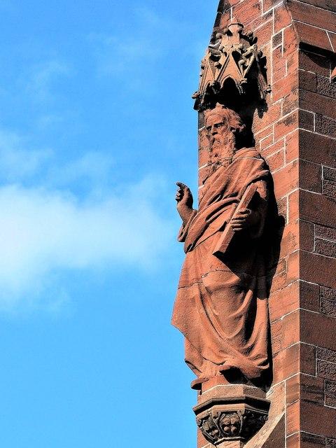 Statue of Moses - Clark Memorial Church, Largs
