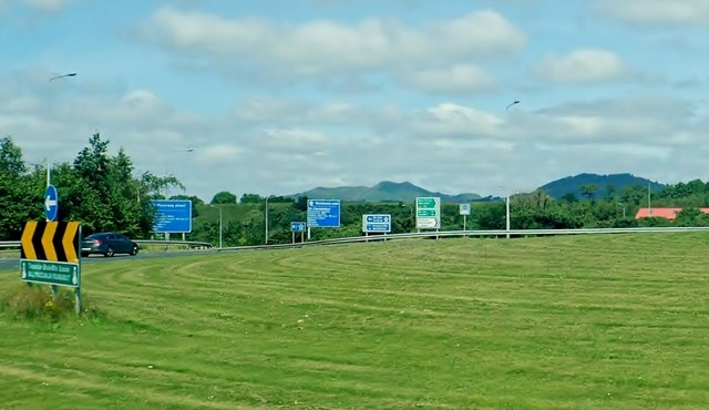 Traffic direction signs at Ballymascanlan Roundabout