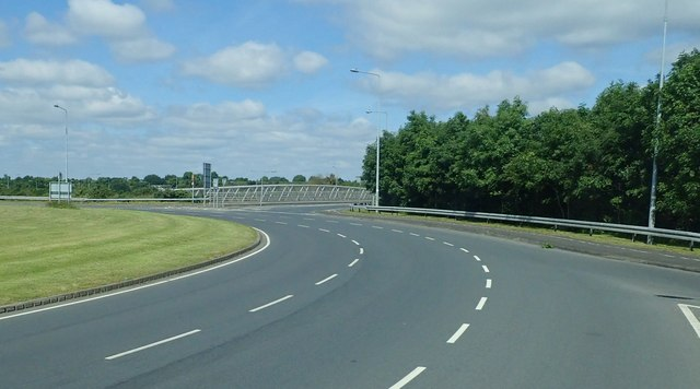 The N52 bridge over the M1 at the Ballmascanlan Interchange