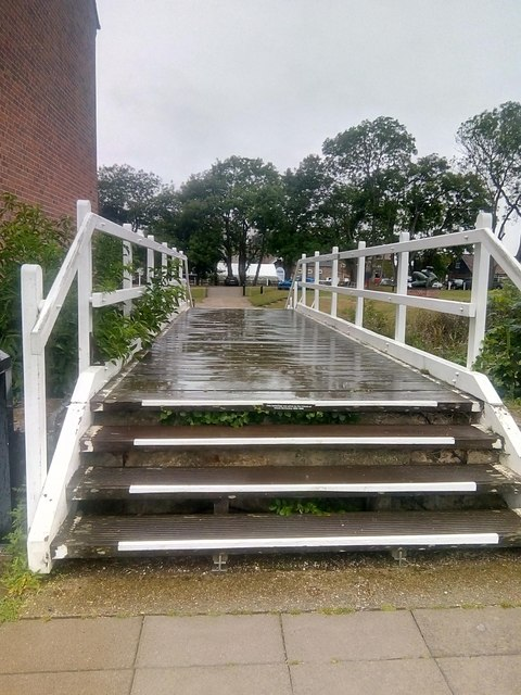 Snape Maltings: footbridge in memory of Ursula Nettleship