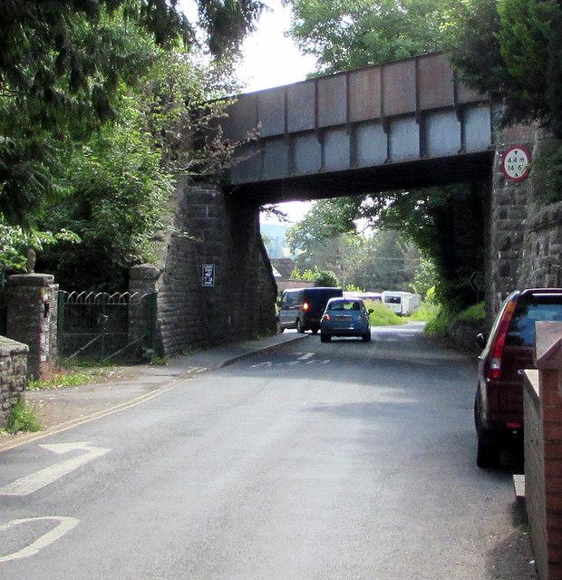 West side of a former railway bridge, Talybont-on-Usk