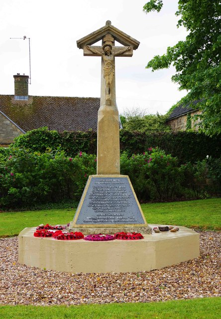 War Memorial, St. Botolph's Road, Barton Seagrave, near Kettering, Northants