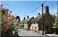 ST9773 : Houses and Wild Flowers, Bremhill by Des Blenkinsopp