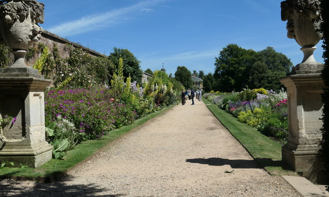 Herbaceous borders at Polesden Lacey