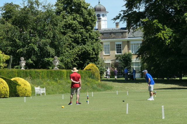 Croquet on the lawn at Polsden Lacey