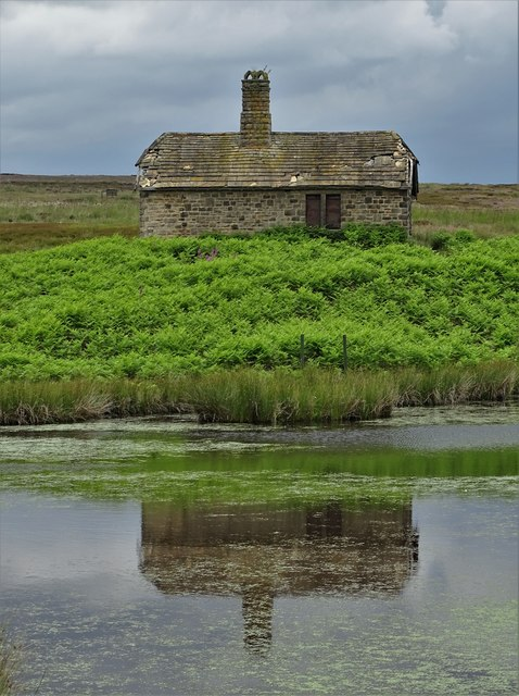 At Oaking Clough Reservoir with Reflection