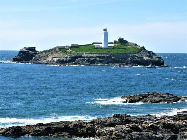 Godrevy Lighthouse on Godrevy Island