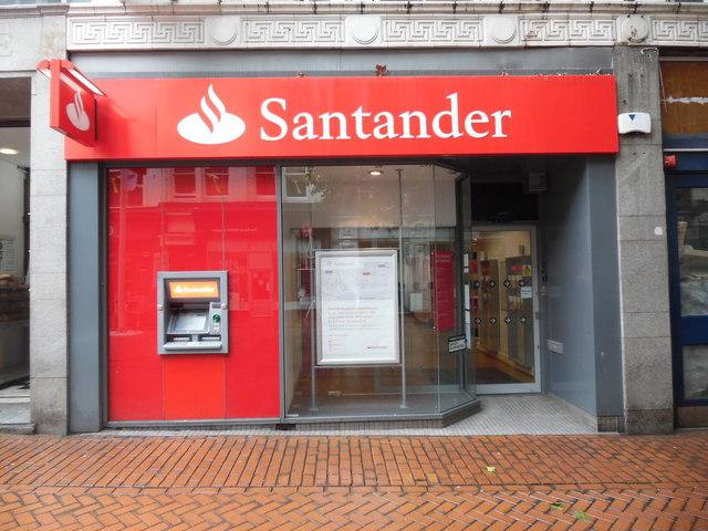 Santander Bank Branch in New Street, Birmingham