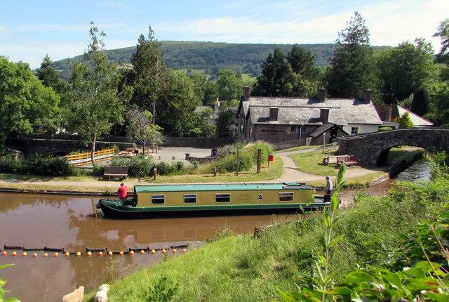 Canal narrowboat, Talybont-on-Usk