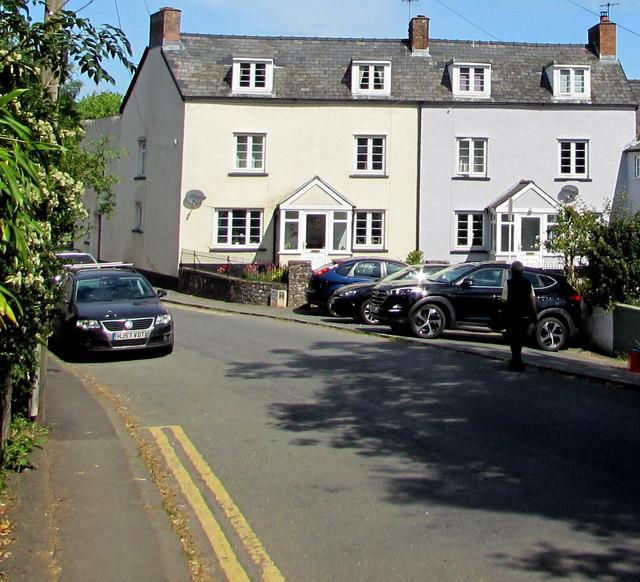 White houses in Talybont-on-Usk