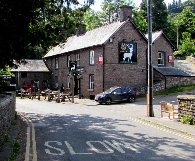 West side of the White Hart Inn, Talybont-on-Usk