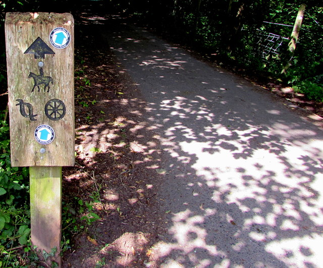 Mountain bike route signs, Talybont-on-Usk