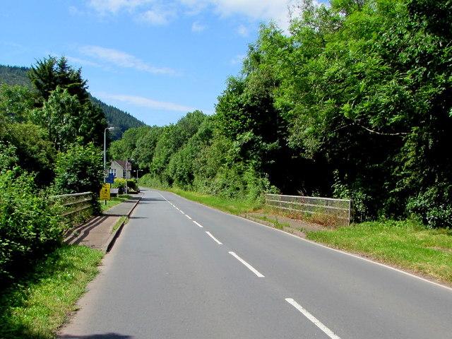 Across Station Road river bridge, Talybont-on-Usk