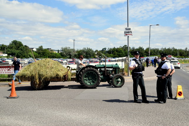 Transporting hay - 179th Omagh Annual Agricultural Show 2019