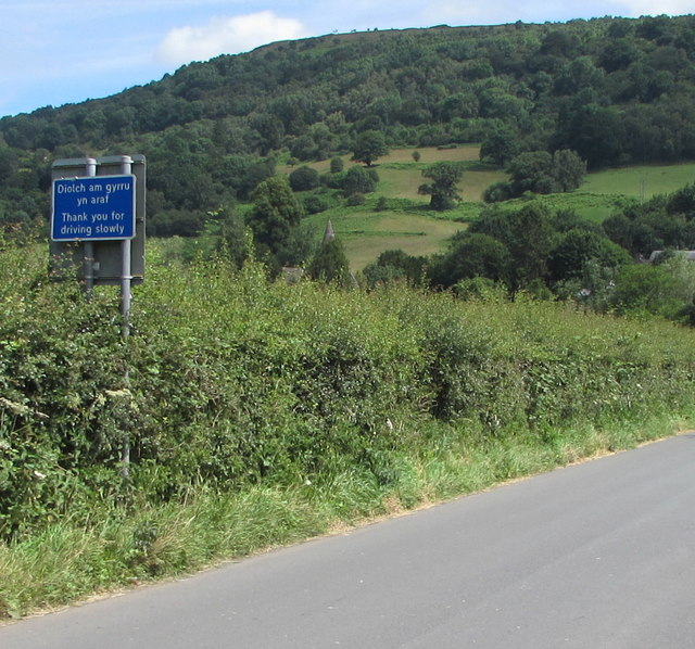 Thank you for driving slowly, Station Road, Talybont-on-Usk
