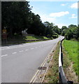 SO1223 : A40 through Llansantffraed, Powys by Jaggery