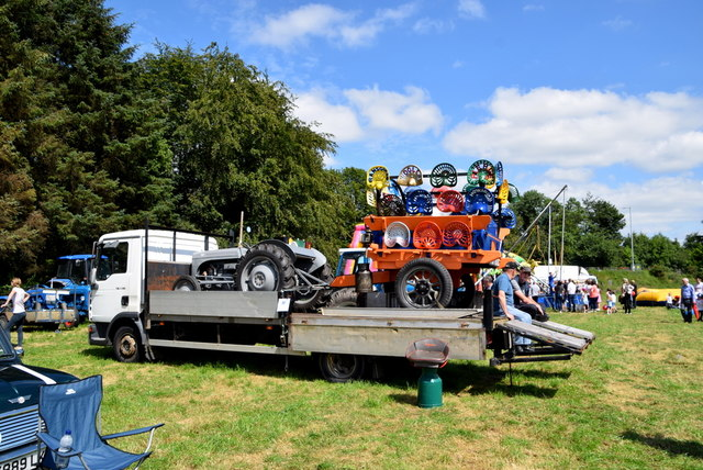 Seats and tractor - 179th Omagh Annual Agricultural Show 2019