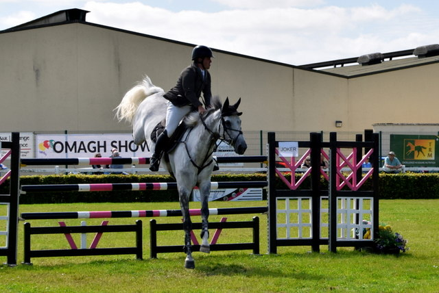 Clearing a jump - 179th Omagh Annual Agricultural Show 2019