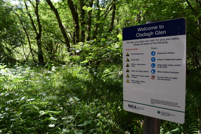 Welcome to Cladagh Glen notice
