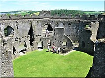 SX1061 : Courtyard, Restormel Castle by G Laird