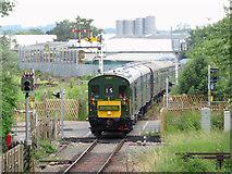 SO6302 : Railtour at St Mary's Halt by Gareth James