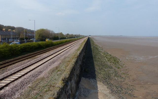 North Wales Coast Line at Ffynnongroyw