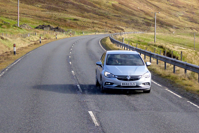 Southbound A970 near Clubb of Mulla