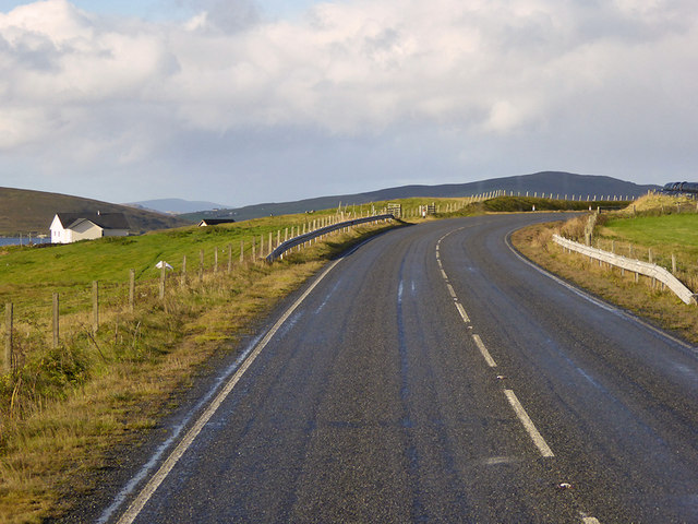 A970 above Olna Firth