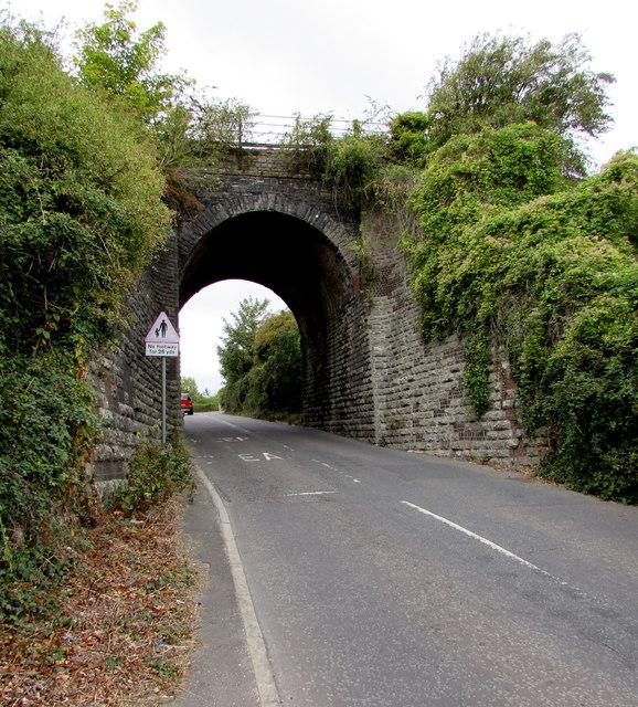East side of Littlemoor Road railway bridge, Weymouth