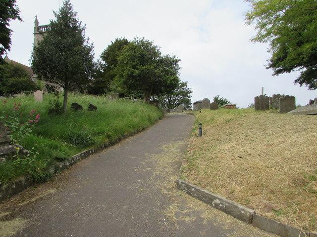 St Arilda's churchyard path, Oldbury-on-Severn