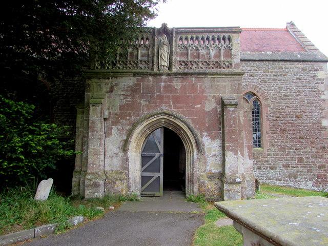 Entrance to St Arilda's Church, Oldbury-on-Severn
