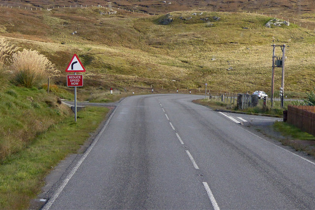 A970 south of Brae