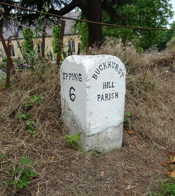 Milestone on High Road (A121)
