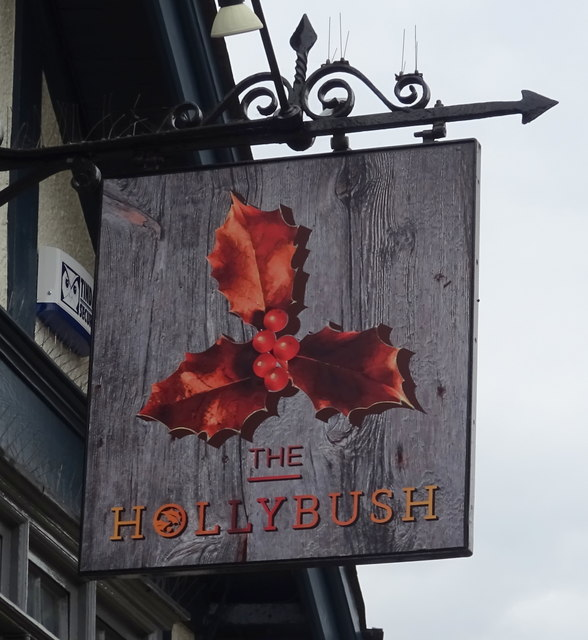 Sign for the Hollybush, Loughton