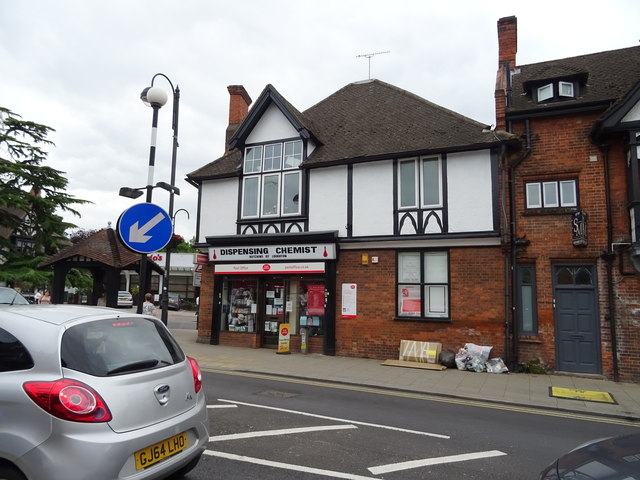 Post Office and Chemist on High Road (A121), Loughton