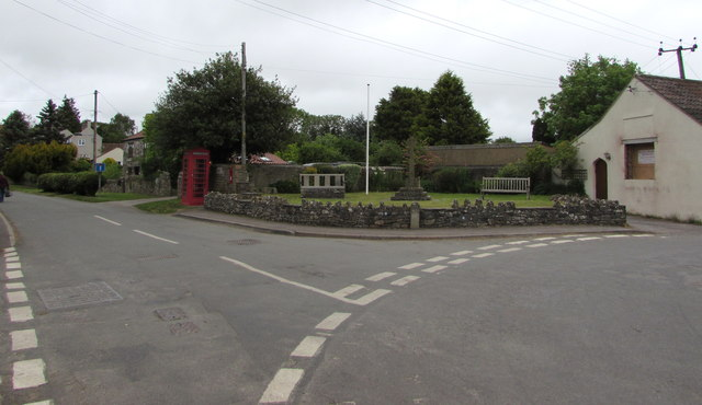 Junction in the centre of Oldbury-on-Severn