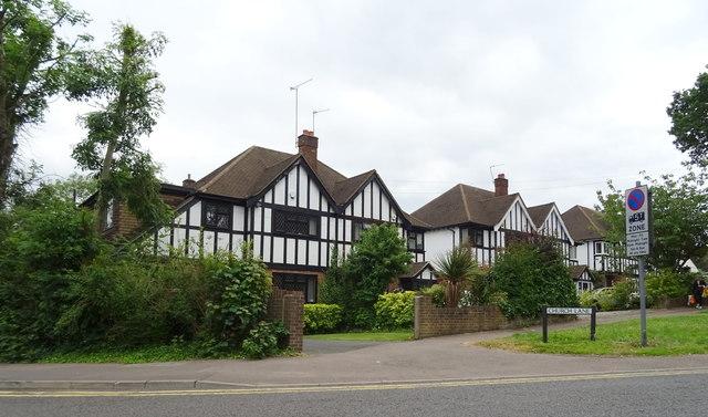 Houses on Church Lane, Loughton