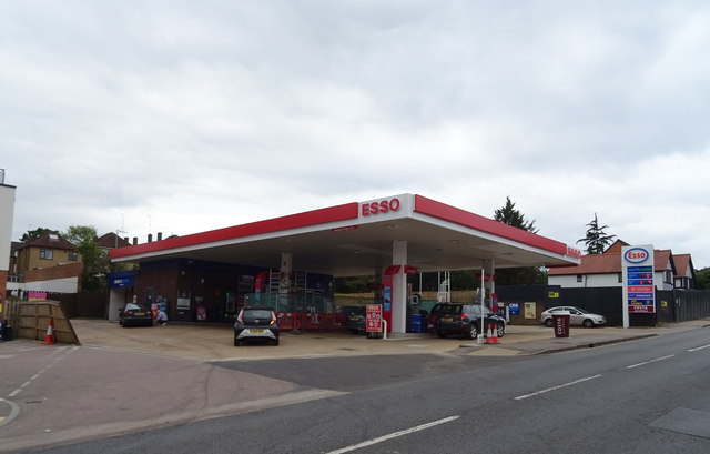 Service station on Church Hill (A121), Loughton