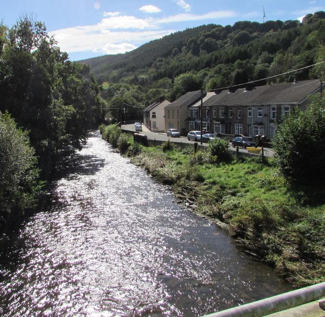 Downstream along the Sirhowy, Ynysddu