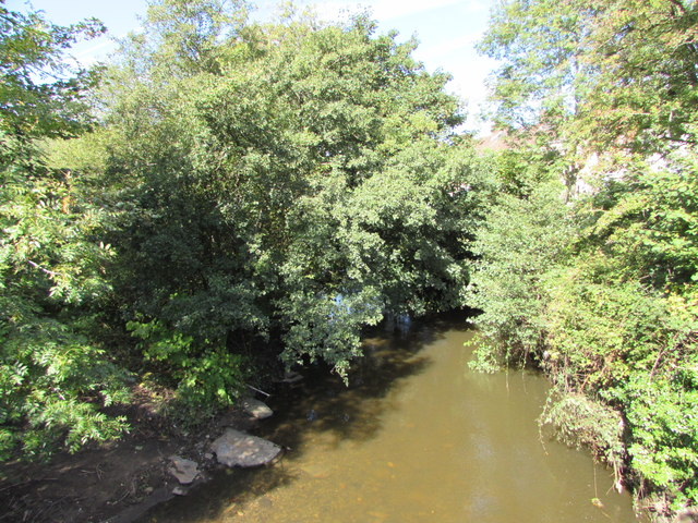 Upstream along the Sirhowy, Ynysddu