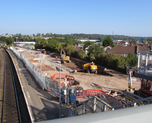 Route widening work at Stapleton Road station, Bristol
