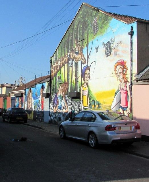 Belmont Street murals, Bristol