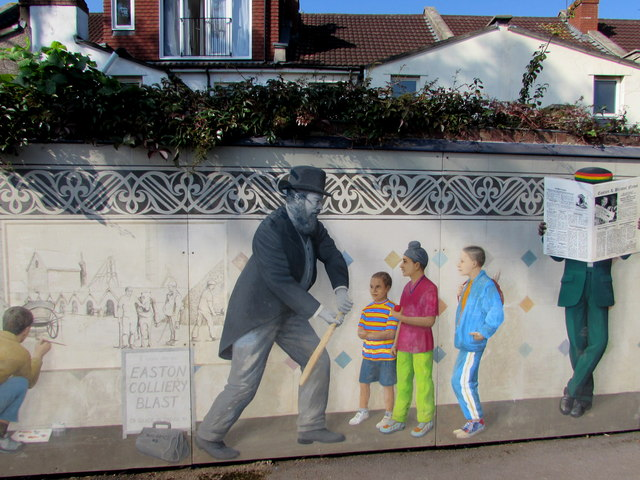 W.G.Grace depiction on the Stapleton Road station mural, Bristol