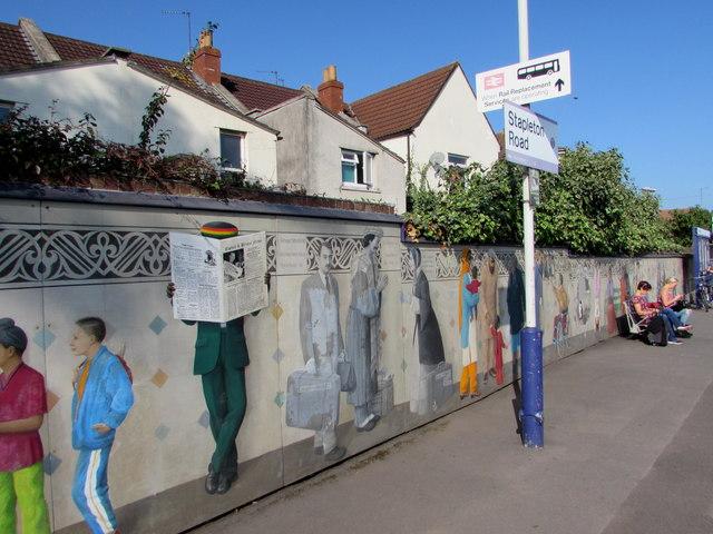Stapleton Road station mural, Bristol