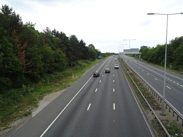 M11 towards London